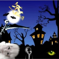 All Hallows' Eve Art Game Treat - Haunted Town