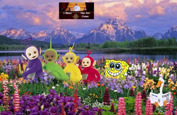 spongebob join teletubbies