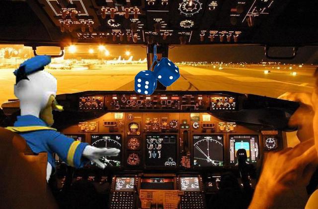 Pilot Donald Duck dice