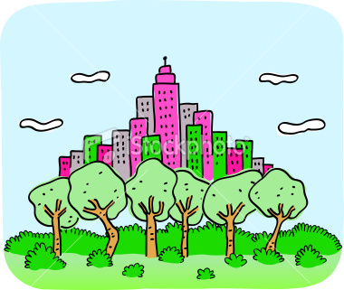 stock-illustration-9597039-city-skyline-with-green-nature-trees-and-park-cartoon