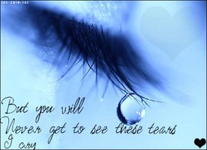 Eye - you will never see tears