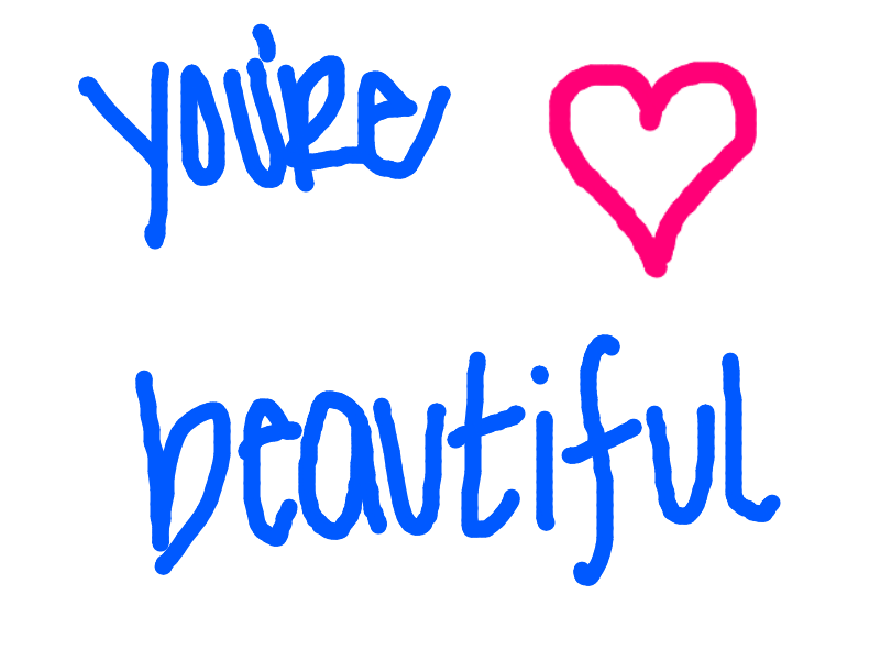 how to write you are beautiful in french